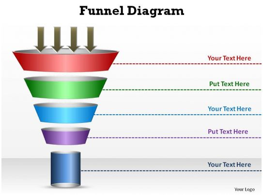 sales and marketing circular funnel diagram style 3 slides