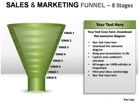 sales and marketing funnel 8 stages powerpoint presentation slides. Black Bedroom Furniture Sets. Home Design Ideas