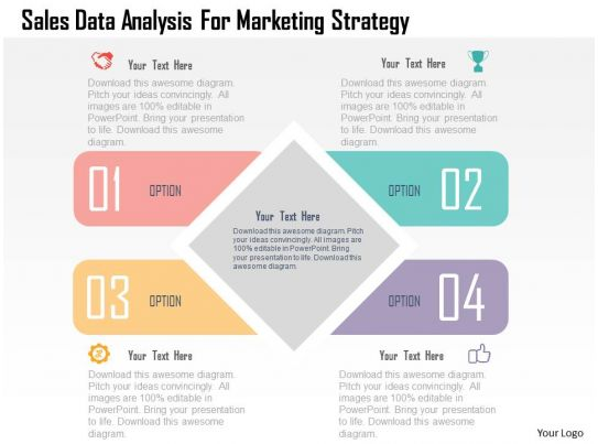 Sales data analysis for marketing strategy flat powerpoint for Sales marketing tactics