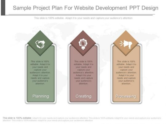 Sample Project Plan For Website Development Ppt Design