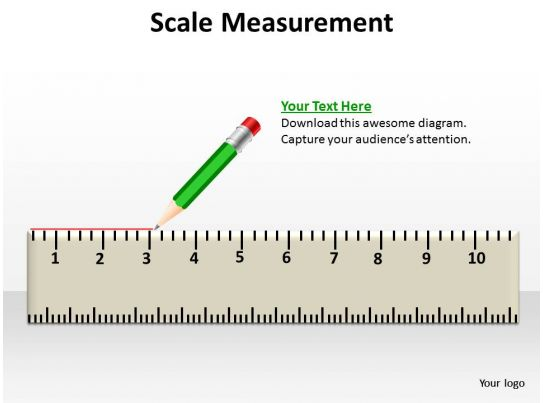 Scale Measurement Shown By Pencil Crayon With Rubber At