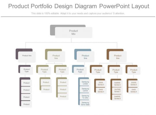 see product portfolio design diagram powerpoint layout