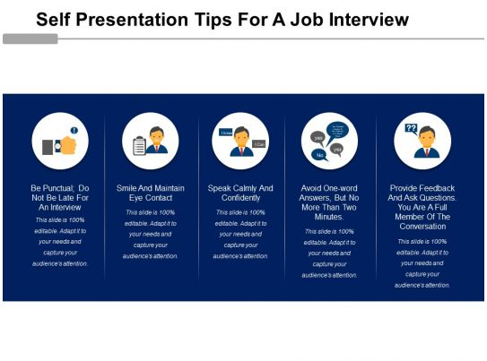 self presentation tips for a job interview powerpoint