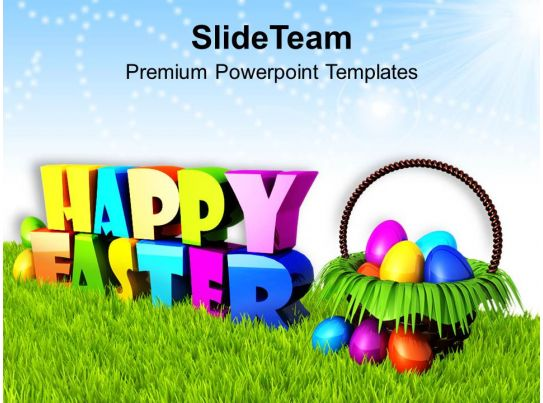 Sermon Easter Sunday Wishing Happy With Basket Of Eggs Powerpoint ...