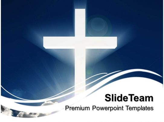 sermon ideas powerpoint templates white cross beaming sky