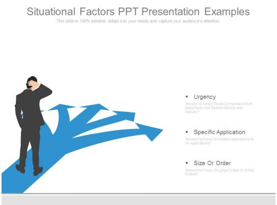 situational factors ppt presentation examples