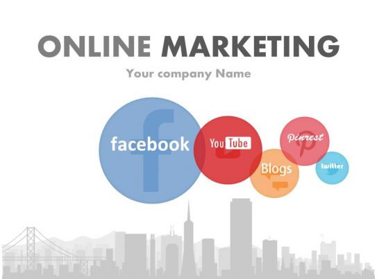 online marketing campaign template - social media focused online marketing powerpoint complete