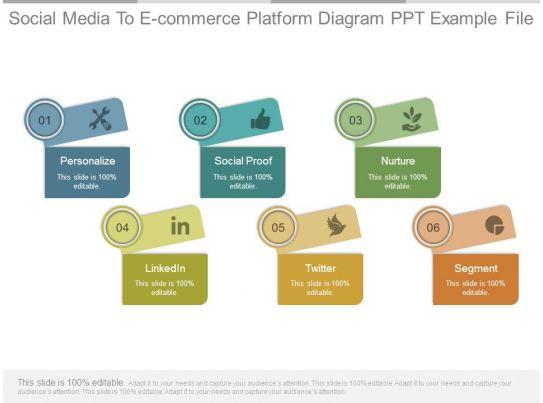 Social Media To E Commerce Platform Diagram Ppt Example File
