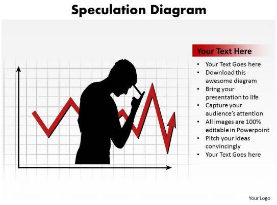 Speculation Diagram Financial Crisis Silhouette Of Man Sad
