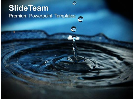 splashes of water environment powerpoint templates ppt themes and