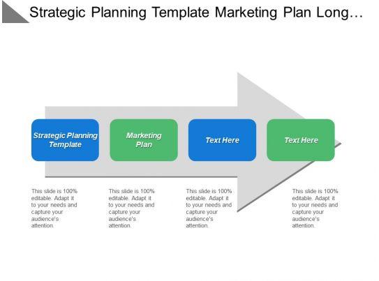 Strategic Planning Template Marketing Plan Long Term Sales Strategy ...