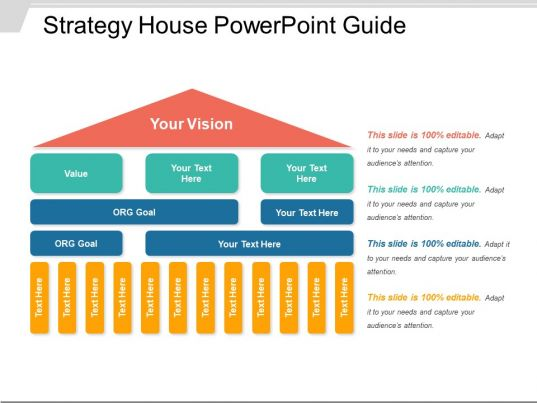 strategy house template strategy house powerpoint guide templates powerpoint