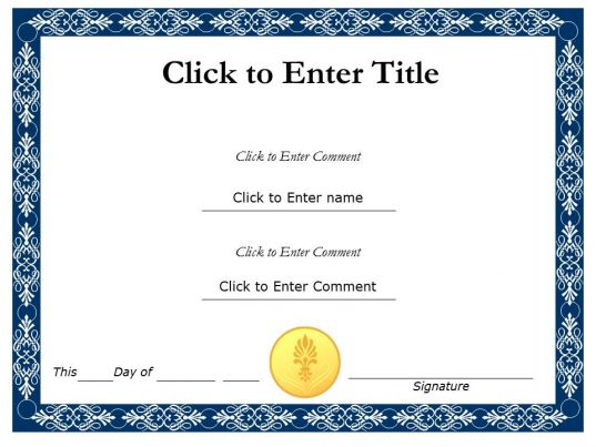 PowerPoint Certificate Templates – Template for Certificates