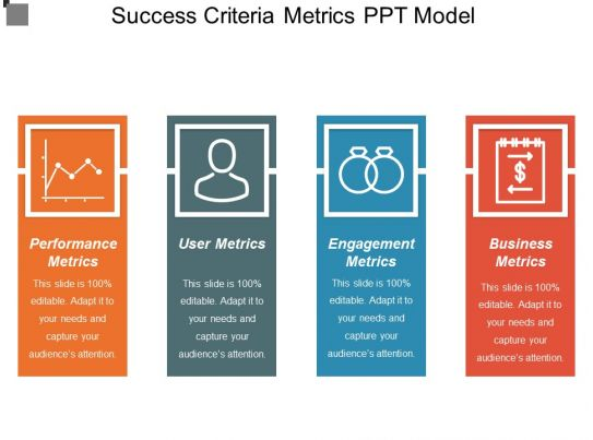success criteria metrics ppt model