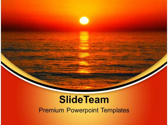 Sunset Background Nature Powerpoint Templates Ppt Themes