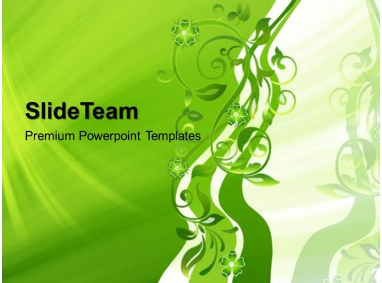 Super Nature Powerpoint Templates Abstract Floral Business Ppt