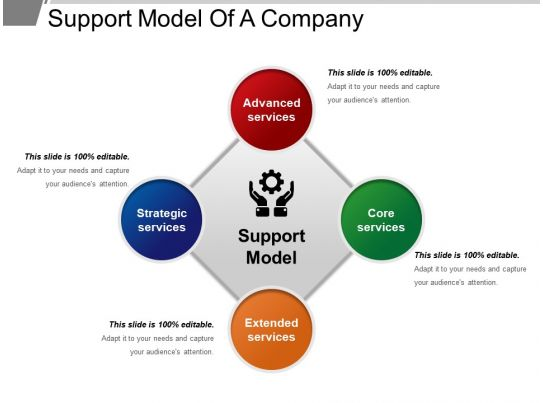 Support Model Of A Company Ppt Slide Template