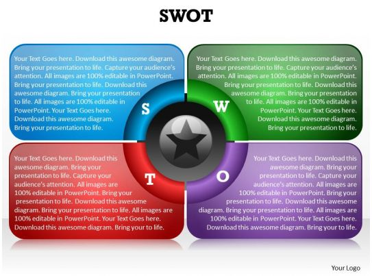 Swot framework shown by 4 boxes blue red purple red and star in swot framework shown by 4 boxes blue red purple red and star in center powerpoint diagram templates 0712 powerpoint templates download ppt background toneelgroepblik Images