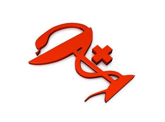 symbol of pharmacy stock photo