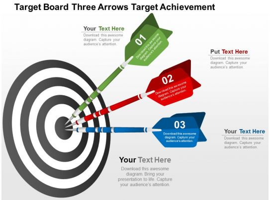 Target Board Three Arrows Target Achievement Flat