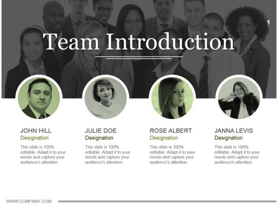 team introduction powerpoint topics ppt example file