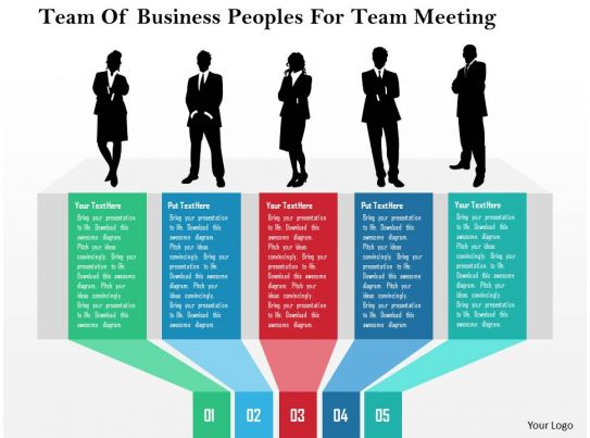 team of business peoples for team meeting flat powerpoint