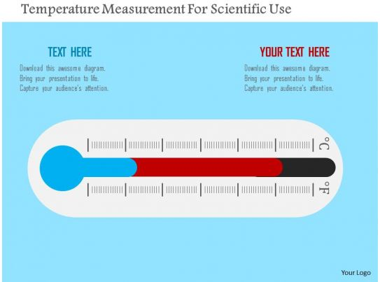 temperature measurement for scientific use flat powerpoint