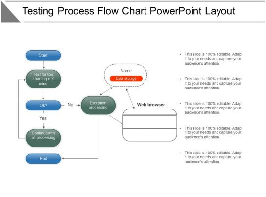 Testing Process Flow Chart Powerpoint Layout Powerpoint