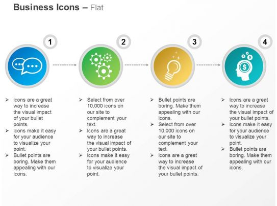 thoughts gears idea generation innovative ideas ppt icons graphics