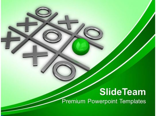 Tic Tac Toe Winning Game Powerpoint Templates And Powerpoint