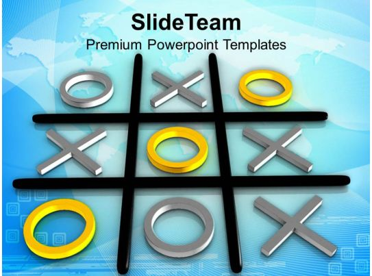 Tic Tac Toe Competition Winner Powerpoint Templates Ppt Themes And