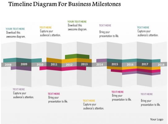 timeline petals milestones powerpoint template slide