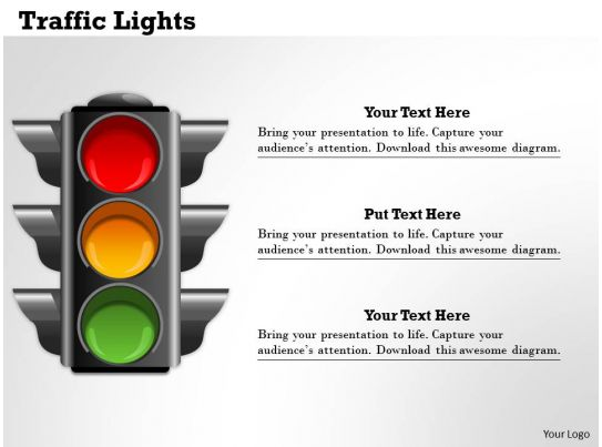 traffic lights powerpoint template slide graphics