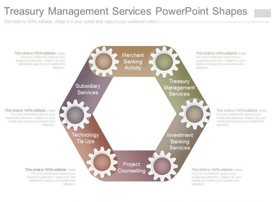 Technology Management Image: Treasury Management Services Powerpoint Shapes