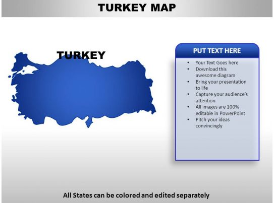 turkey country powerpoint maps powerpoint shapes powerpoint slide deck template. Black Bedroom Furniture Sets. Home Design Ideas