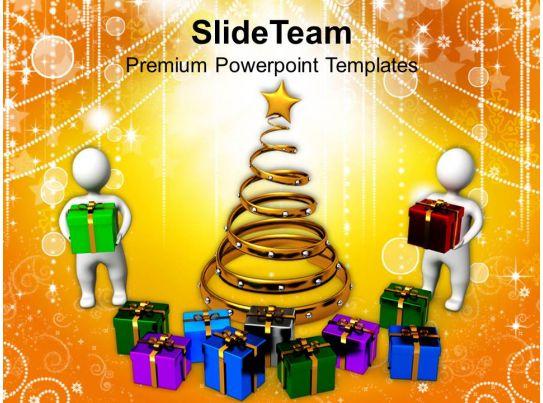 Usa Holidays Christmas Carol Celebration With Presents