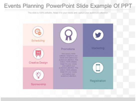 use events planning powerpoint slide example of ppt
