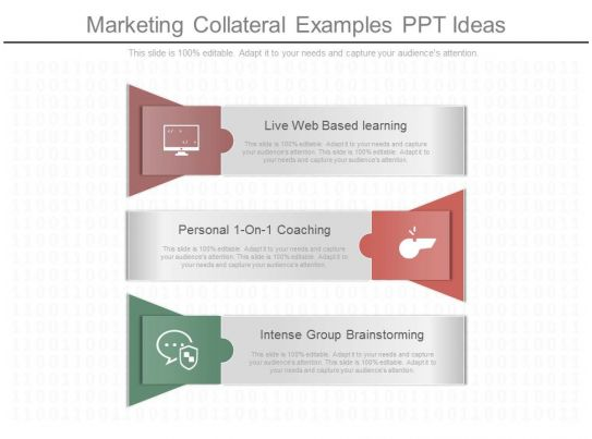 use marketing collateral examples ppt ideas