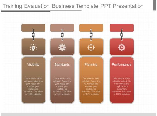 Use training evaluation business template ppt presentation for Orientation powerpoint presentation template