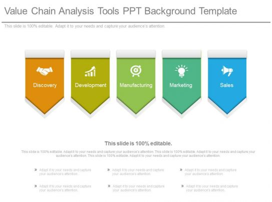 value chain analysis tools ppt background template. Black Bedroom Furniture Sets. Home Design Ideas