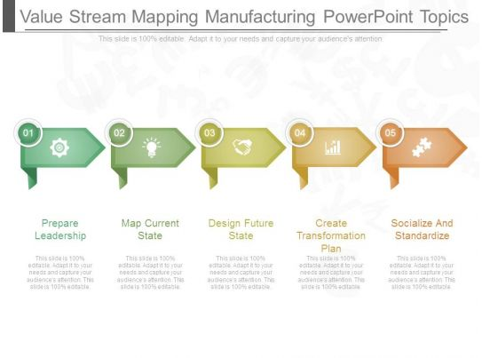 Value stream mapping manufacturing powerpoint topics for Value stream map template powerpoint