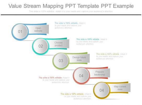 value stream map template powerpoint value stream mapping ppt template ppt example
