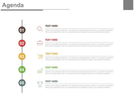 Vertical Timeline For Business Agenda And Growth