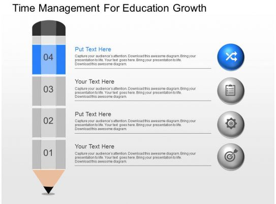 View Time Management For Education Growth Powerpoint