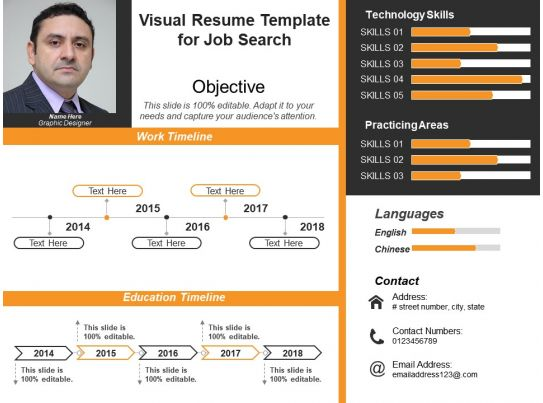 visual resume template for job search 1