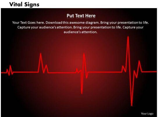 vital signs powerpoint template slide