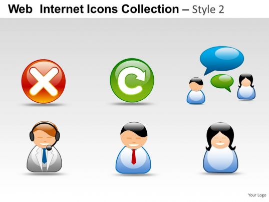 web internet icons style 2 powerpoint presentation slides