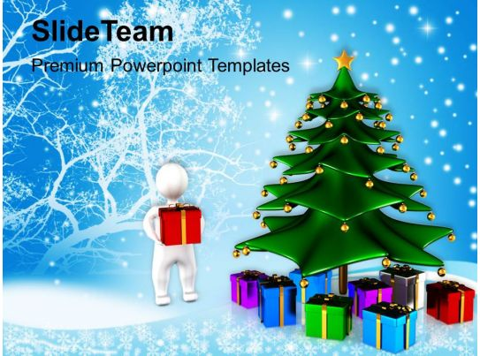 winter holidays christmas background tree with gifts