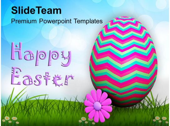 wishes of happy easter with text powerpoint templates ppt
