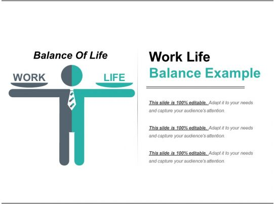 Work Life Balance Example Powerpoint Templates Graphics